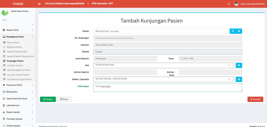 Sistem informasi manajemen klinik