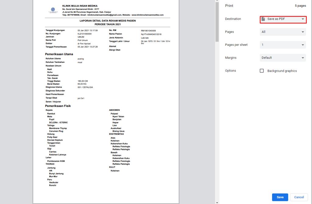 sistem informasi klinik pdf